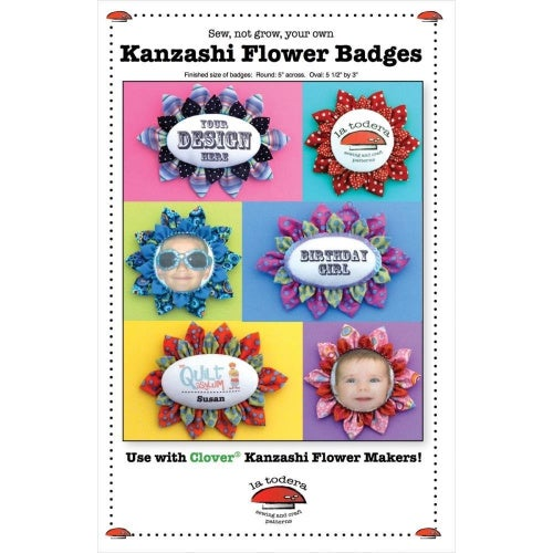 La Todera Patterns-Kanzashi Flower Badges