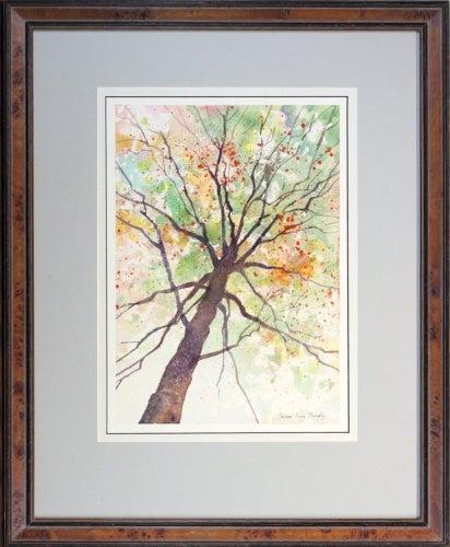 Looking Up, Framed Original Watercolour Landscape Painting, 46cm X 60cm