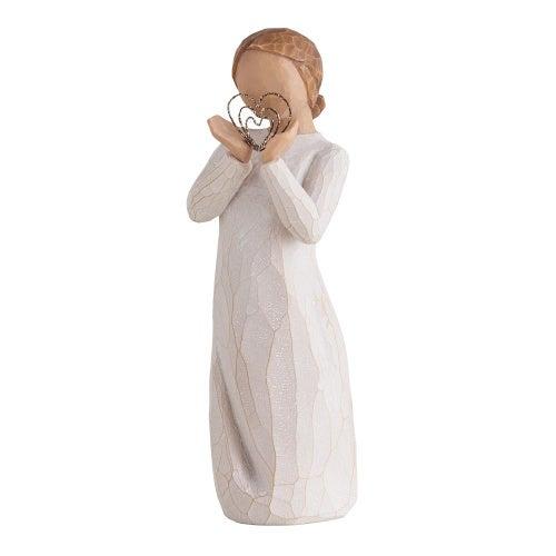 (Measurements: 14cm h, cream, white, beige) - Willow Tree Lots of Love Holding Hearts Figurine Susan Lordi 27440 New Demdaco