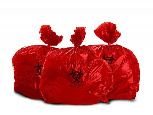 Oakridge Heavy Duty 94.6l Biohazard Waste Bags (Roll of 25) - Hospital Grade