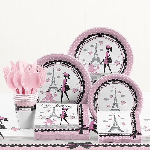 Party in Paris Birthday Party Supplies Kit