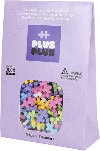 PLUS PLUS - Open Play Set - 300 Piece - Pastel Colour Mix, Construction Building Stem Toy, Interlocking Mini Puzzle Blocks for Kids