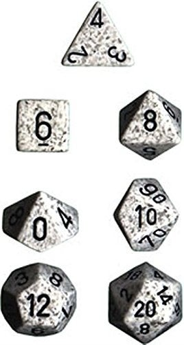Polyhedral Dice: Speckled Arctic Camo