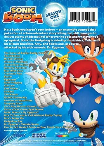Sonic Boom: Season One, Volume One With Sonic and Eggman Figures