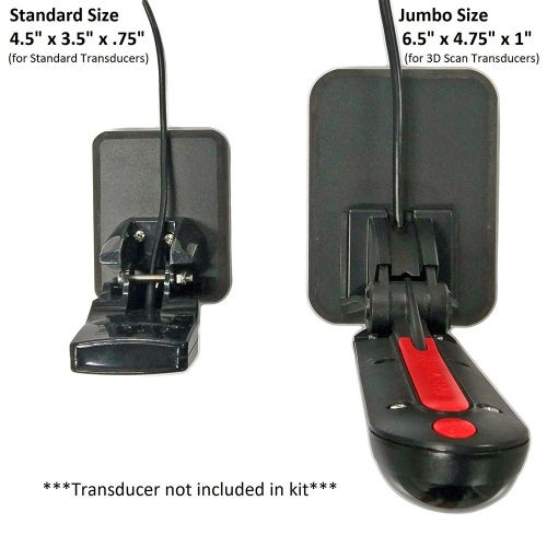 Stern Pad Jumbo White - Screwless Transducer/Acc. Mounting Kit (for Large 3D Scan Transducers)