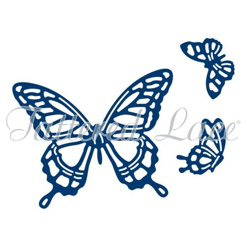 Tattered Lace Botanical Bouquet Butterfly Embellishments- Cutting Die TLD0079