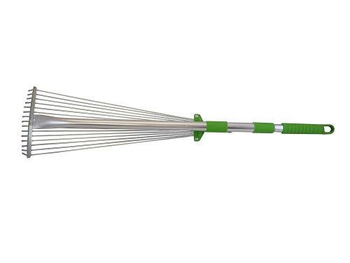 Tierra Garden Stainless Steel Adjustable And Telescopic Rake, New