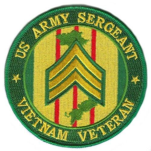 US Army Sergeant Vietnam Veteran 10cm Patch