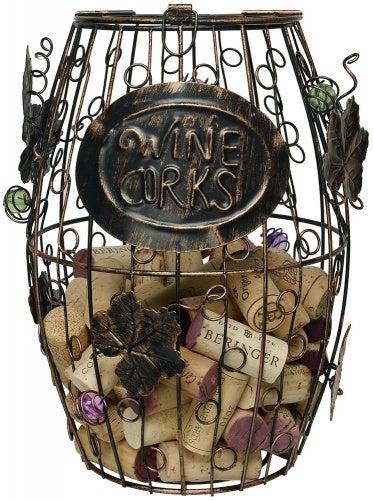 Wine Barrel Cork Holder. By Home-X