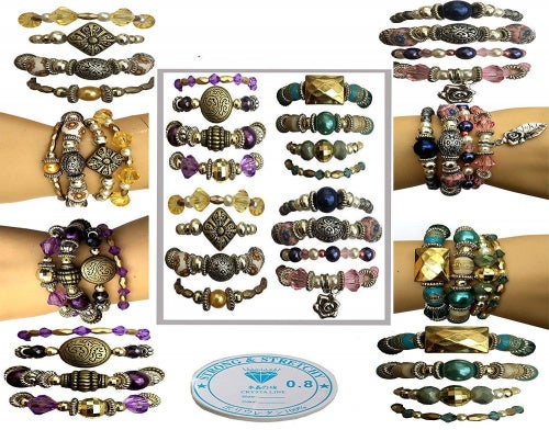 X 16 Bracelet Making Jewellery Kit Sabrikas Giftware