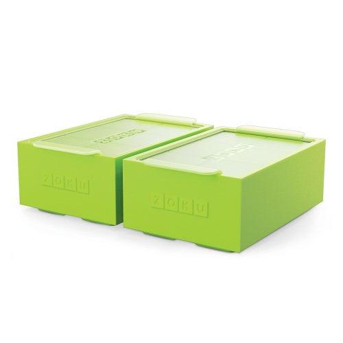 Zoku Unisex Jumbo Ice Cube Trays-Set of 2, Green