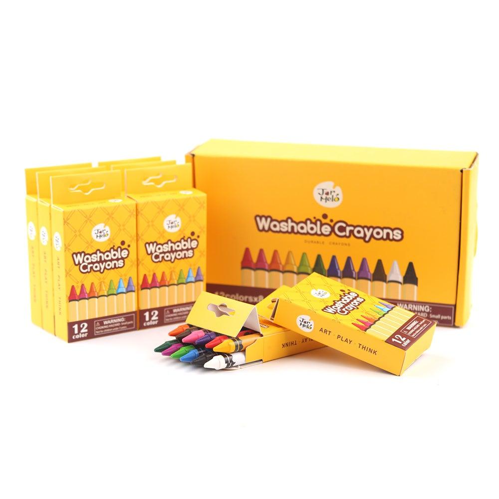 JarMelo - Washable crayons - Bulk Set 12-8 packs