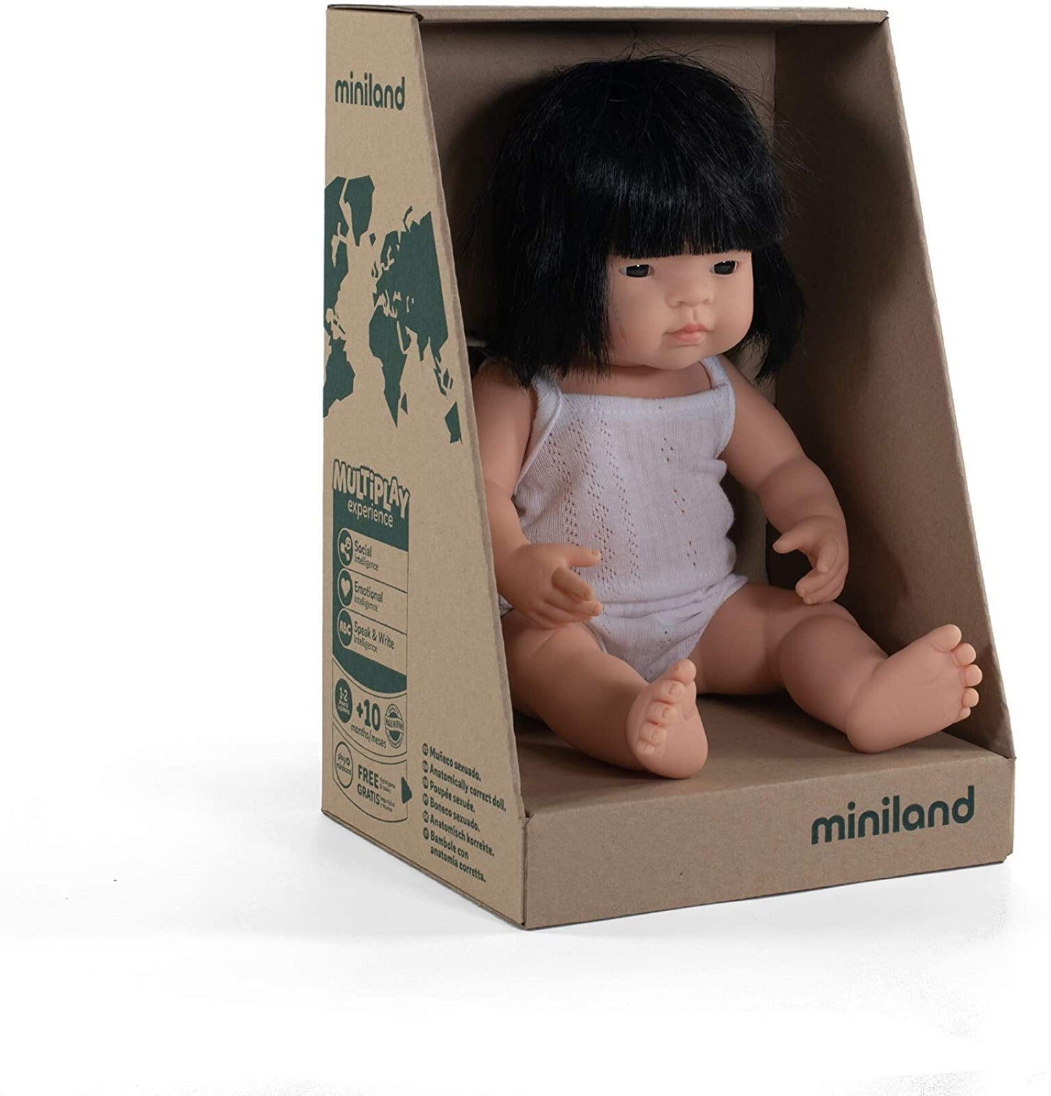 Miniland Doll Asian Girl 38cm Vanilla Scented Anatomically Correct