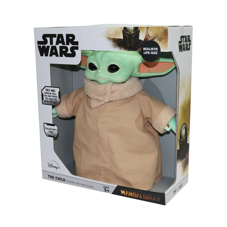 Licensed Star Wars The Mandalorian The Child Baby Yoda Life Size Talking Plush