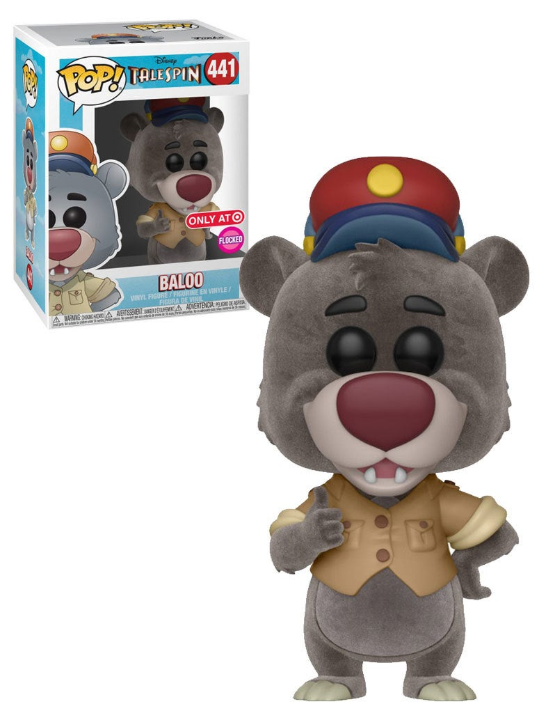 Funko POP! Disney Talespin #441 Baloo (Flocked) - Target Exclusive Import - New, Mint Condition