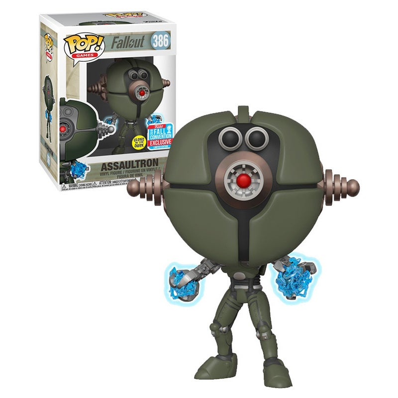 Funko POP! Games Fallout #386 Assaultron (Glows In The Dark) - Funko 2018 New York Comic Con (NYCC) Limited Edition - New, Mint Condition