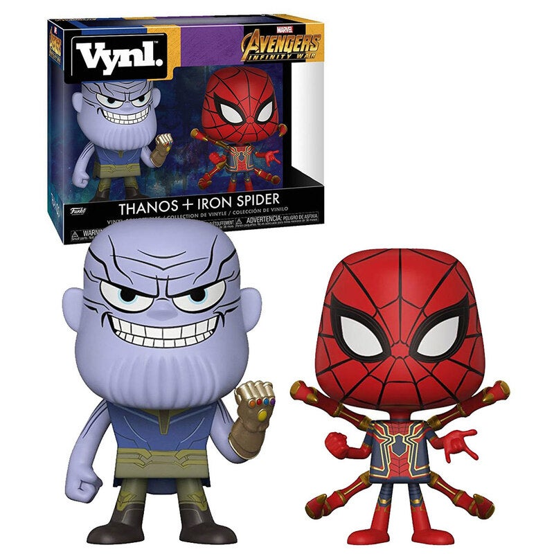Funko Vynl. Marvel Avengers Infinity War Two Pack - Thanos + Iron Spider - New, Mint Condition