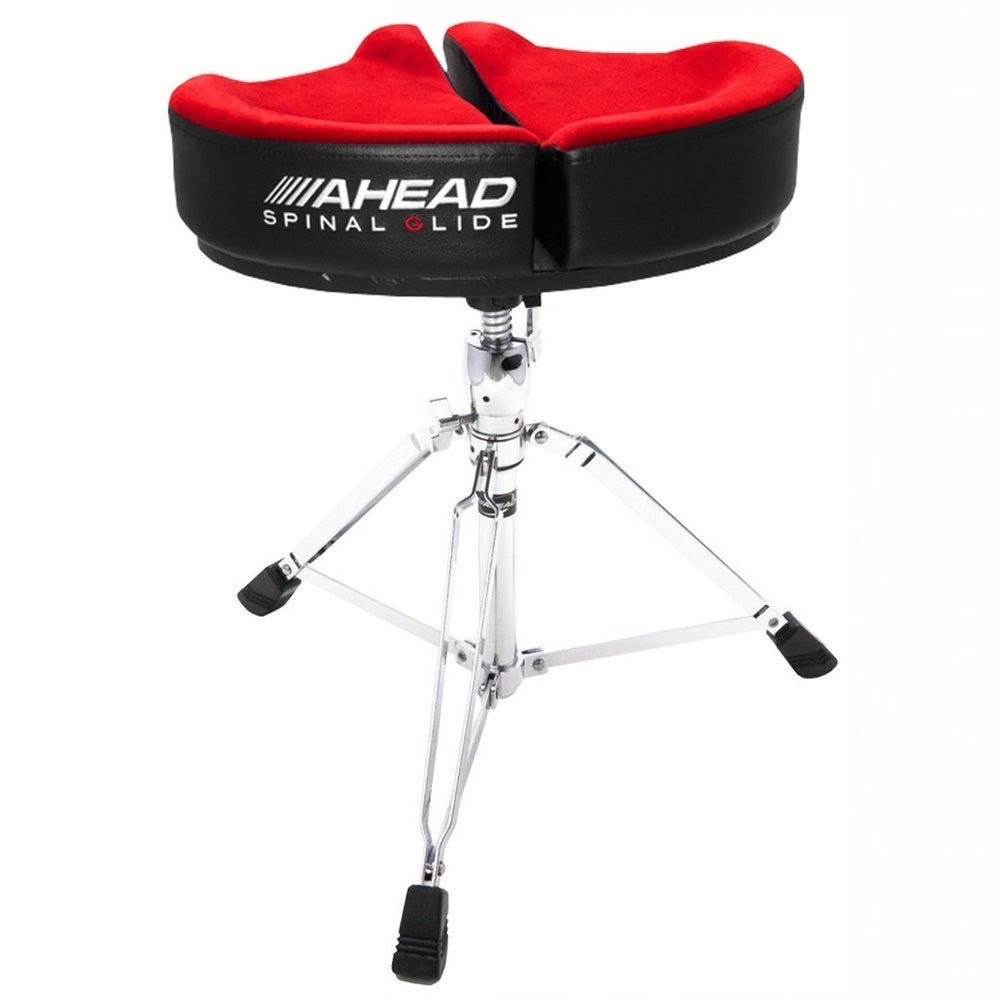 Ahead Spinal-G Saddle Throne - RED - Drum Throne with Memory