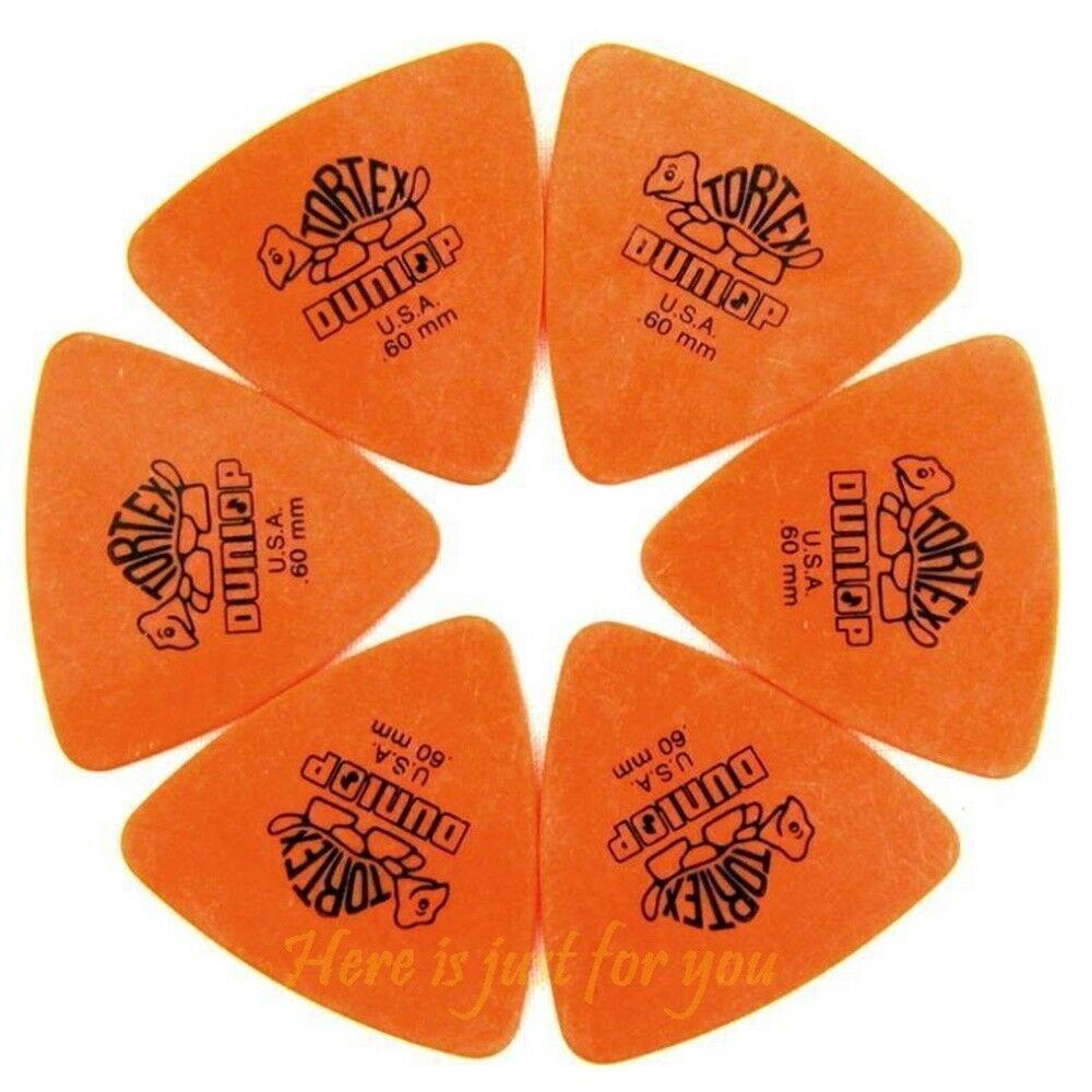 Dunlop Tortex Triangle 6 Orange 0.60mm Picks 6 Guitar Picks / Plectrums Bass