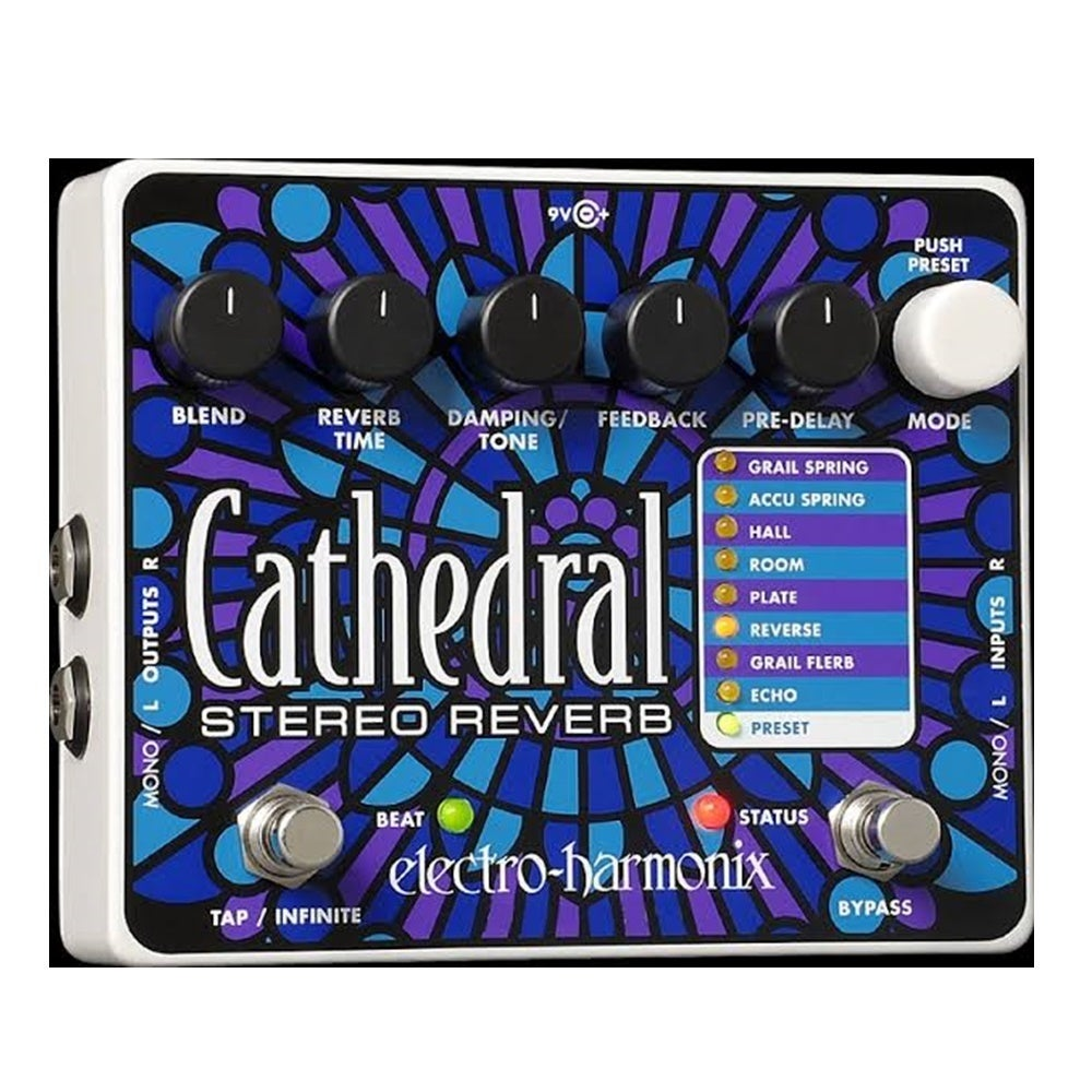 Electro Harmonix Cathedral Stereo Reverb Guitar Effects Pedal