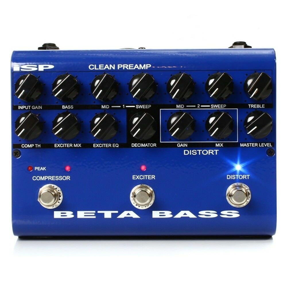 ISP Technologies Beta Bass Preamplifier Preamp pedal Sale Price 1 Only
