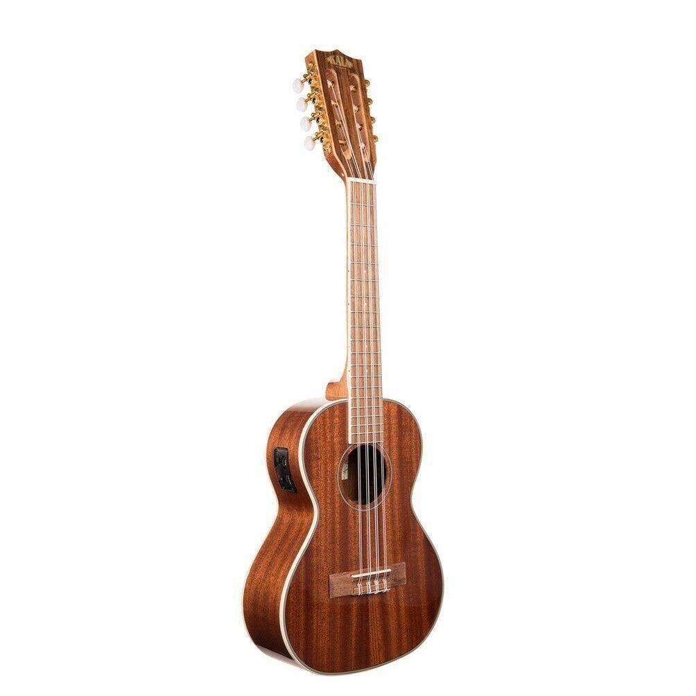 Kala KA-8E Acoustic / Electric 8 string Tenor Ukulele, Natural Satin Mahogany