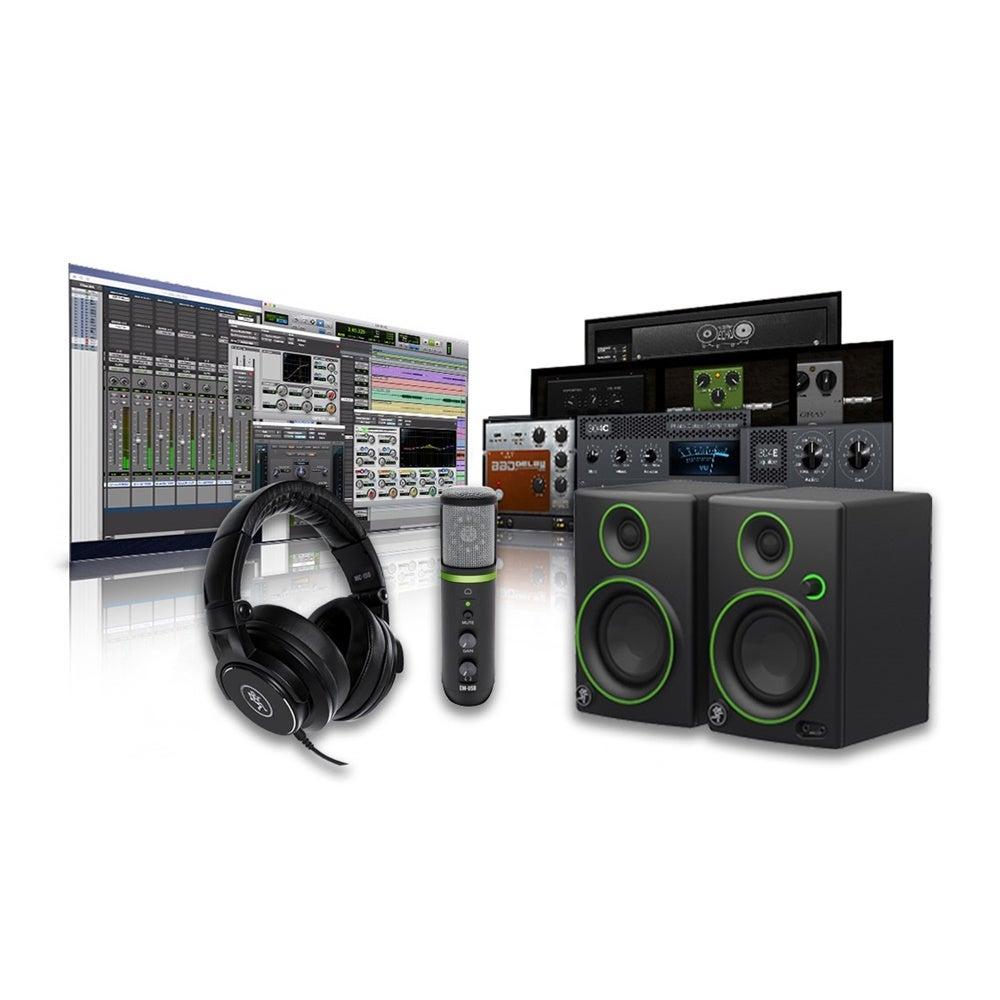 Mackie Creation Pack condensor Mic CR3 studio Monitors MC150 Headphones