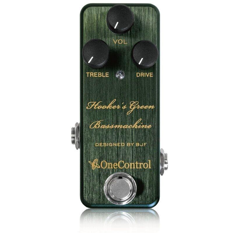 One Control Hooker`s Green Bassmachine Bass Preamp Guitar Effects pedal