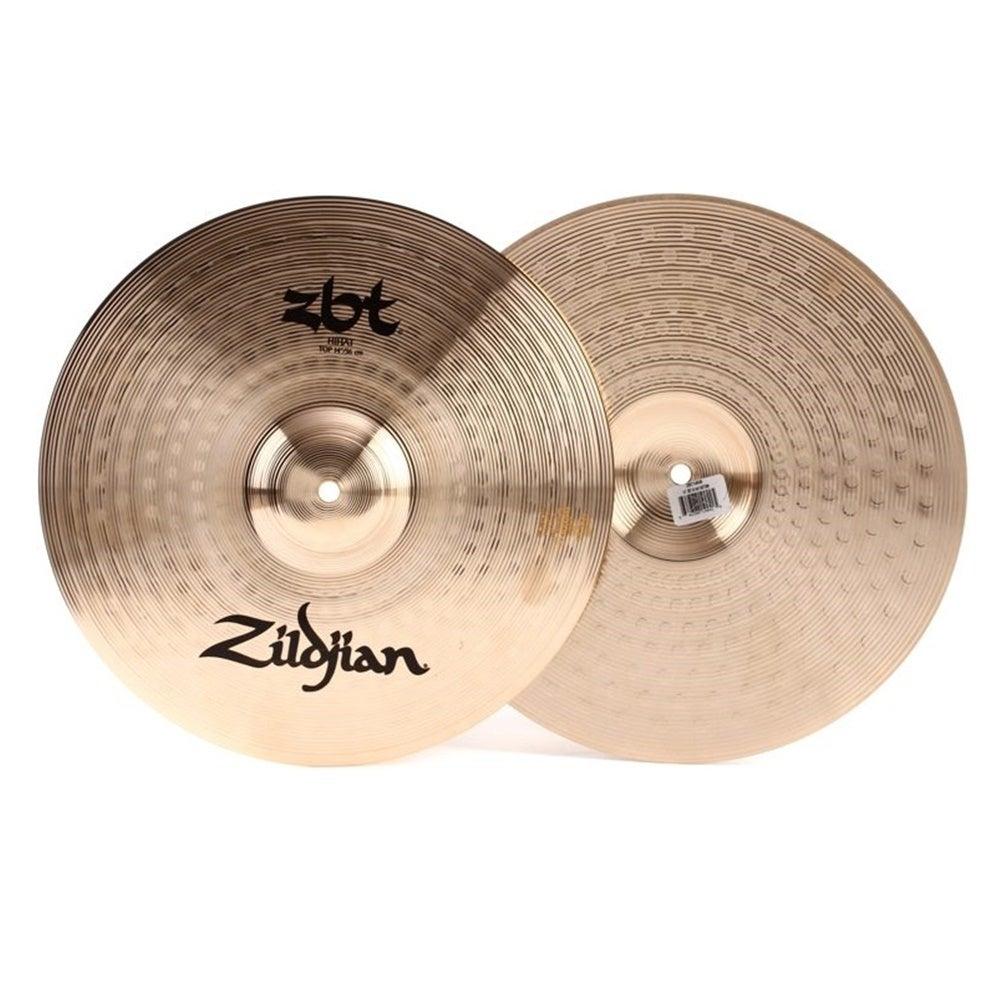 """Zildjian 14"""" ZBT Hi-hat Cymbals Pair Sheet Bronze Hihats Traditional Finish"""