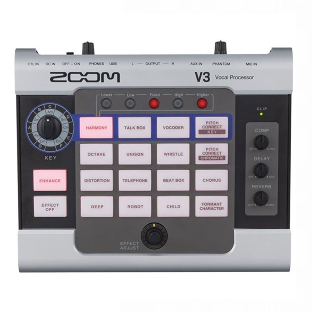 Zoom V3 Multi-effects Vocal Processor and USB Audio Interface