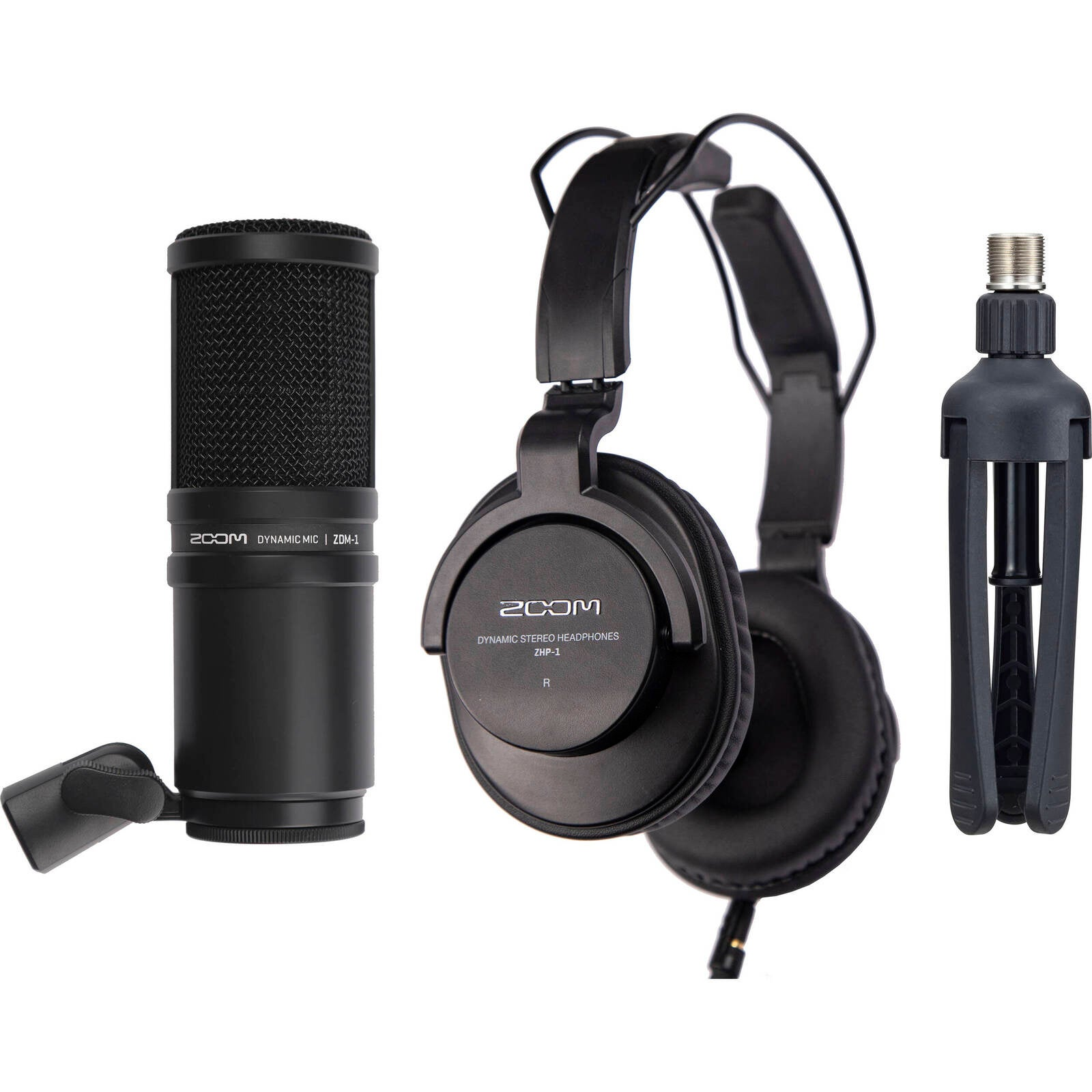 Zoom ZDM-1 Podcast Microphone Pack Microphone with Headphones and cable
