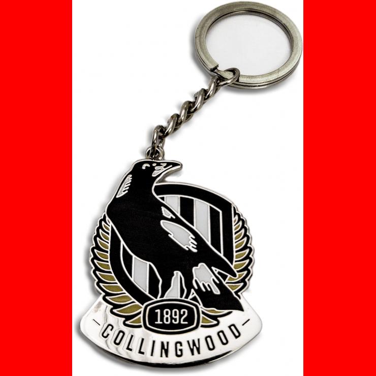 Collingwood Magpies Logo Metal Keyring