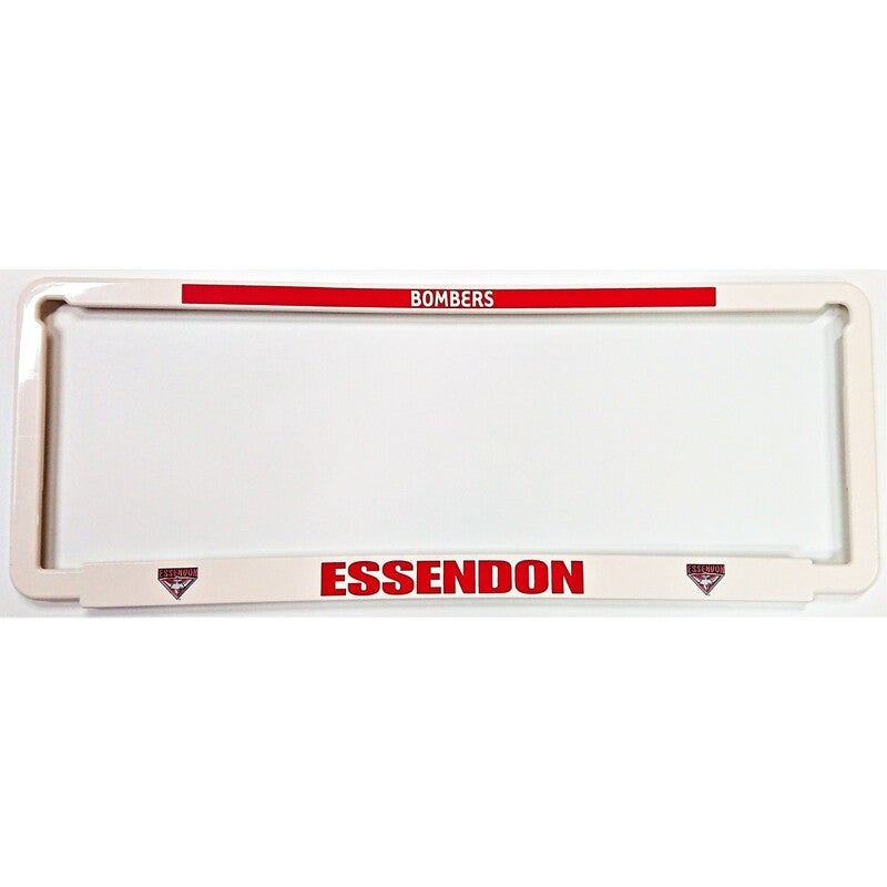 Essendon Bombers Car Number Plate Surrounds Set of 2