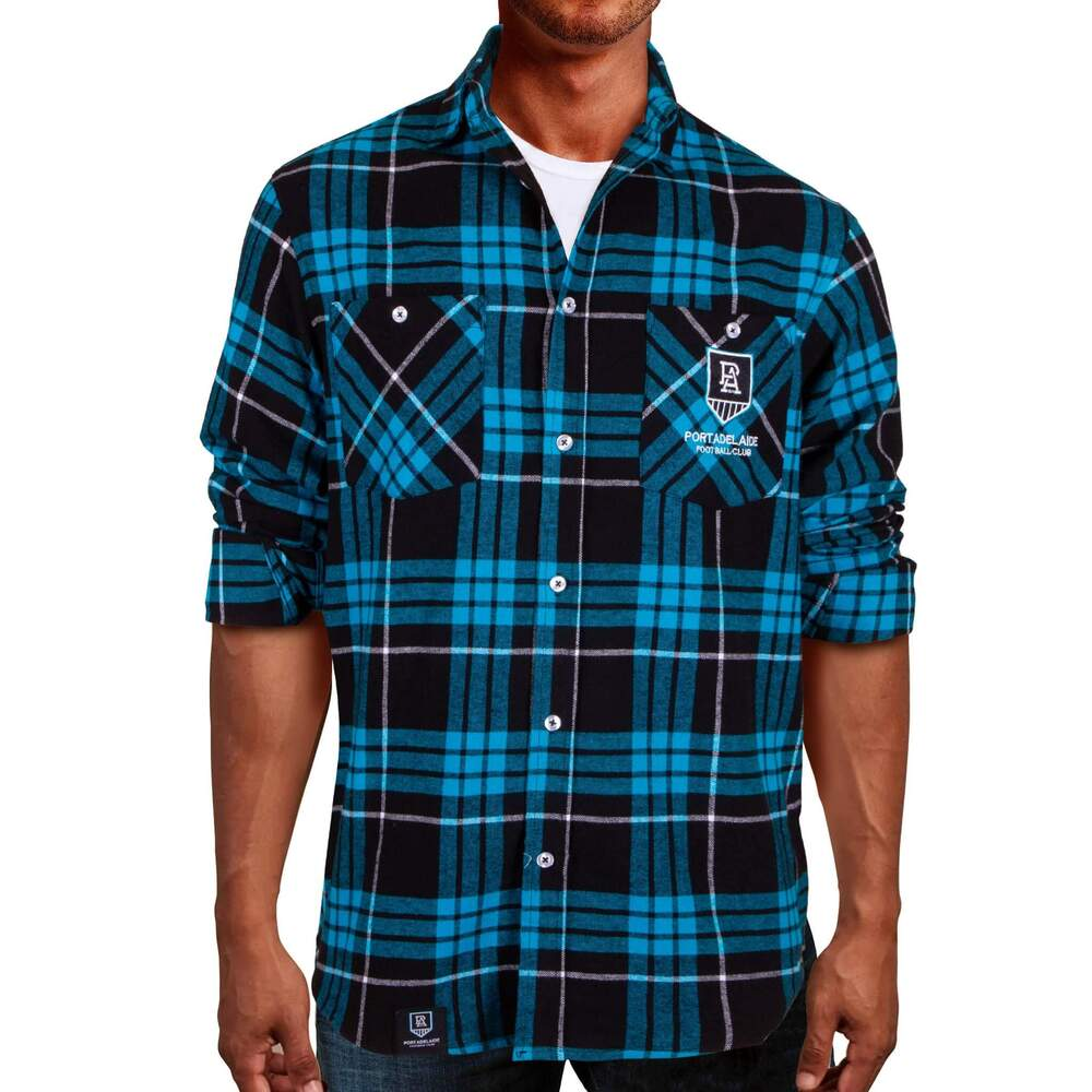 Port Adelaide Power Adults Flannel Shirt
