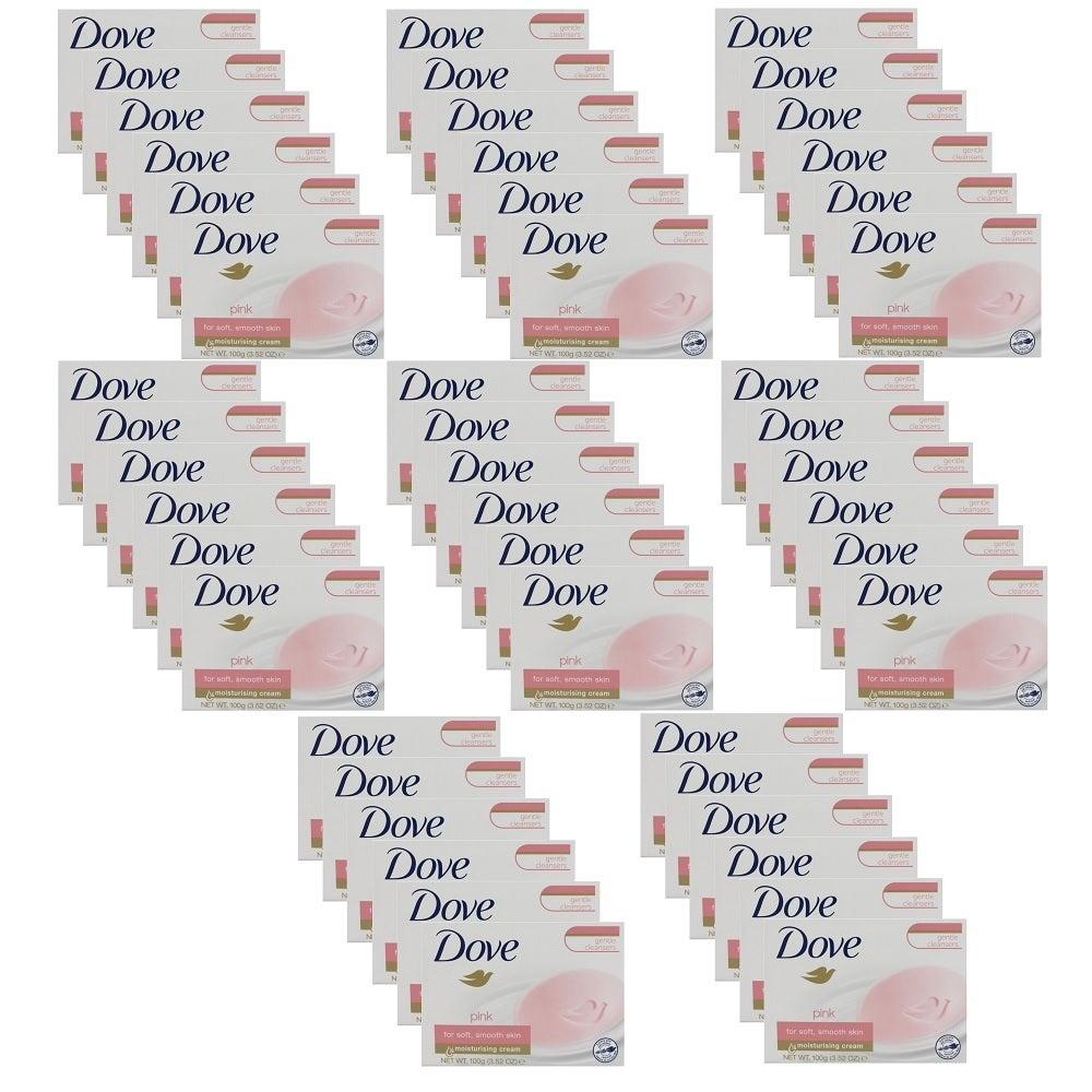 48 x Dove Beauty Cream Soap Bar Pink Moisturising 100g