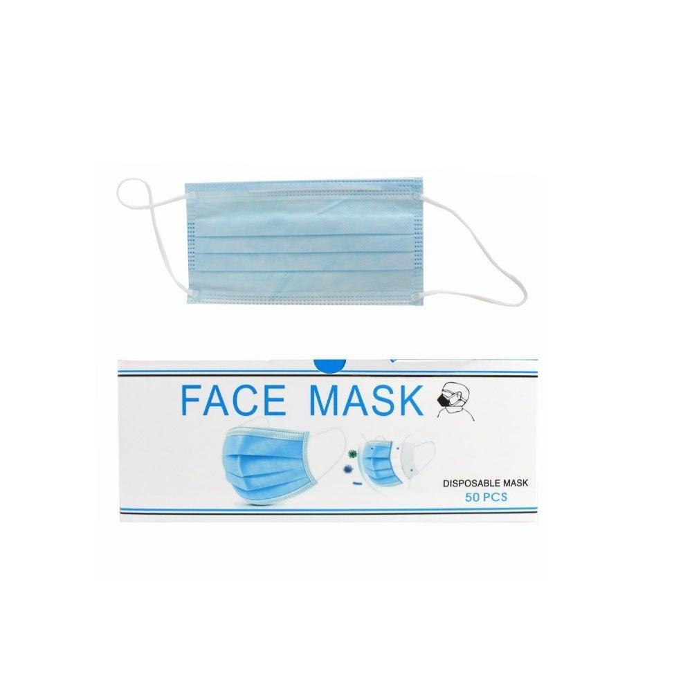 Face Mask Non Woven Disposable 3 Ply -50pcs