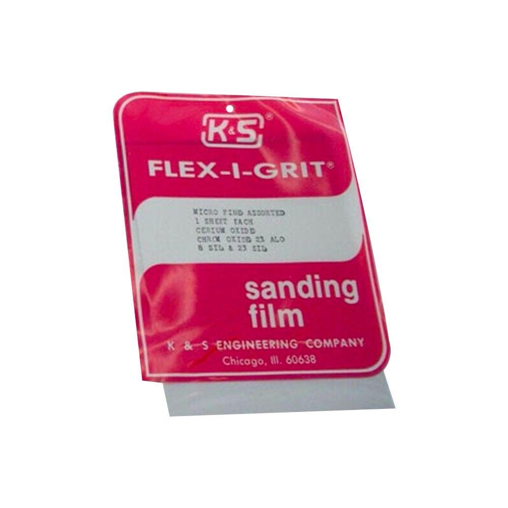 ### K&S 4301 SANDING FILM MICRO ASSORT (1 PACKET) (24 pieces) (DISCONTINUED)