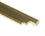 K&S 9864 ROUND BRASS ROD (300MM LENGTHS) 2.5MM DIAMETER (4 PIECES)