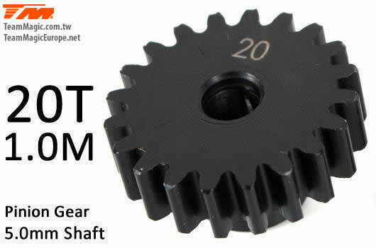 Pinoion gear M1 for 5mm shaft 20T