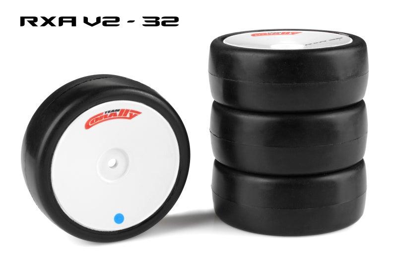 Team Corally - Attack RXA V2 rubber tires - 1/10 EP touring - 32 shore - Asphalt - 4 pcs