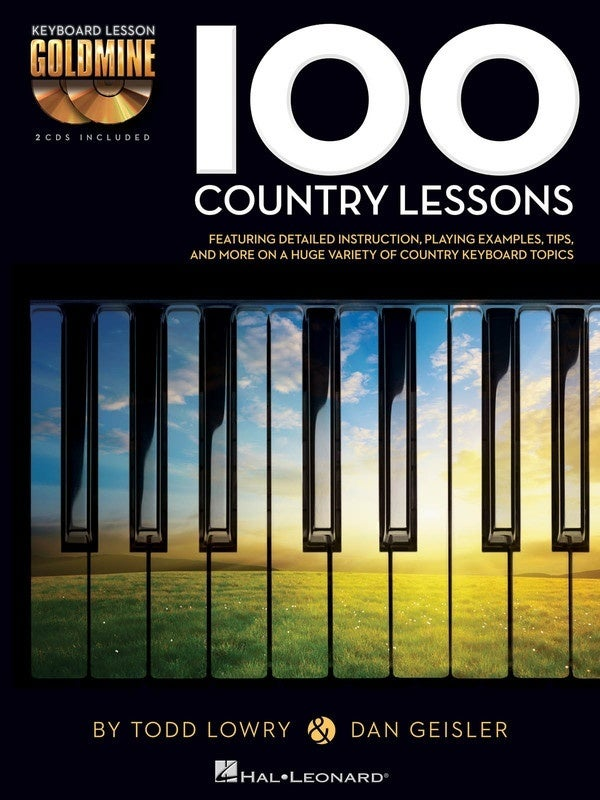 100 Country Lessons Goldmine Keyboard (Softcover Book/CD)