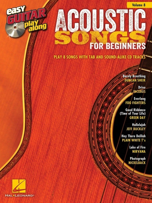 Acoustic Songs Beginners Easy Guitar Play V8 (Softcover Book/CD)
