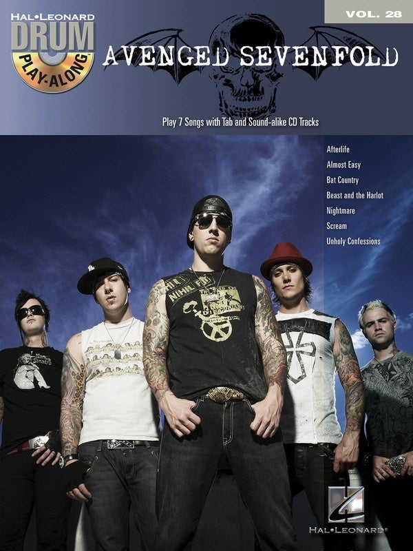 Avenged Sevenfold Drum Play Along Book/CD V28 (Softcover Book/CD)