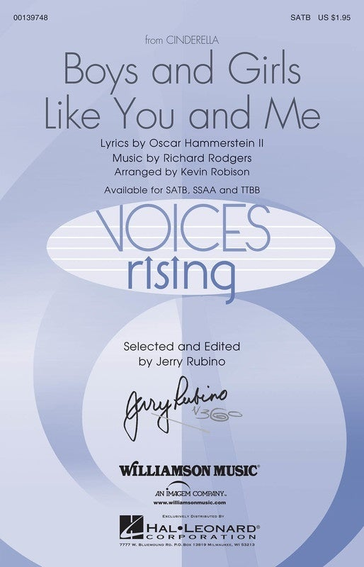 Boys And Girls Like You And Me SATB (Octavo)