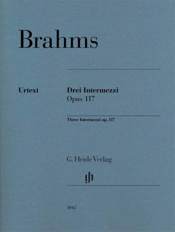 Brahms - 3 Intermezzi Op 117 Piano (Softcover Book)