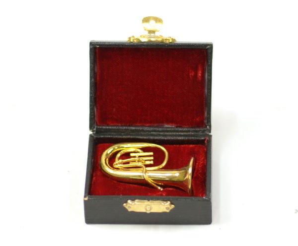 Brass Miniature In Case-Bari Horn