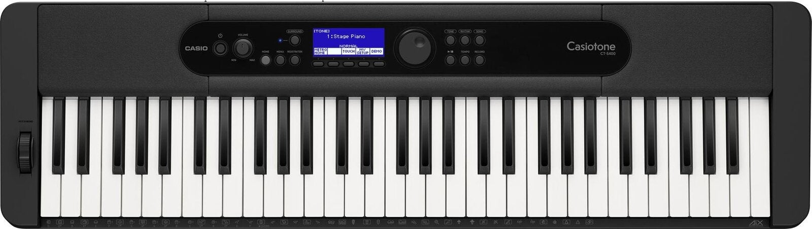 Casio CTS-400 Casiotone 61 Note Digital Keyboard Black