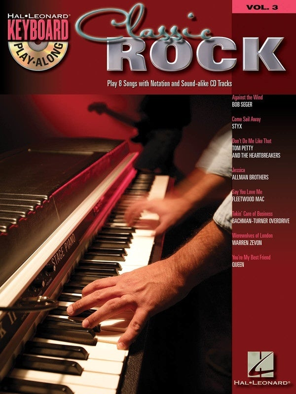 Classic Rock Keyboard Play Along Book/CD V3 (Softcover Book/CD)
