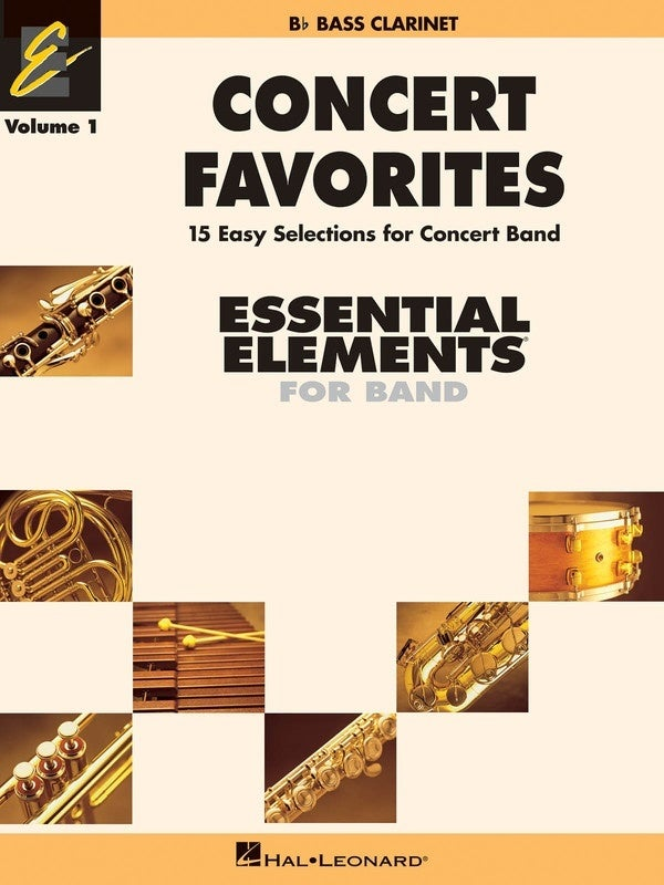 Concert Favorites Essential Elements V1 Bass Clarinet (Softcover Book)