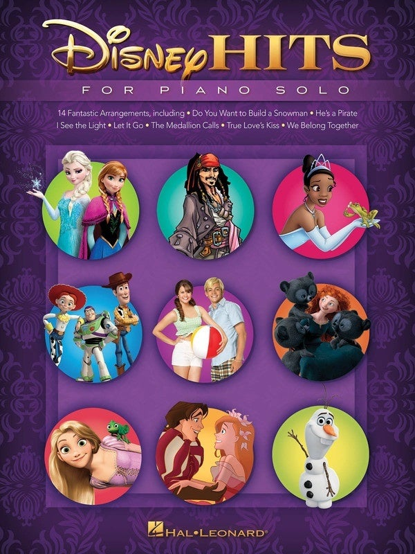 Disney Hits For Piano Solo (Softcover Book)